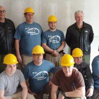 Military personnel visit Trenton Habitat build